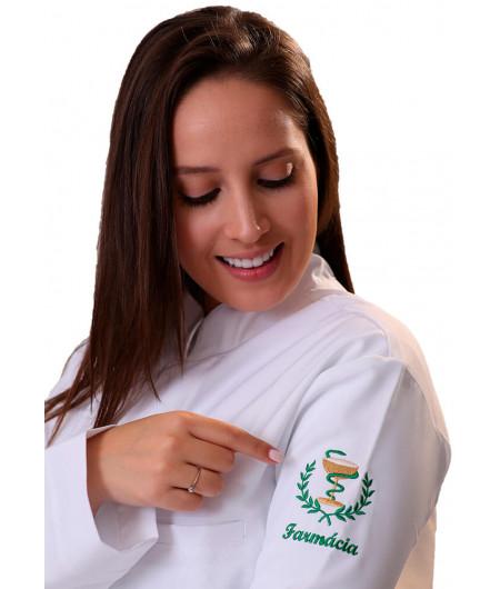 Jaleco Feminino Personalizado Farmácia Acinturado